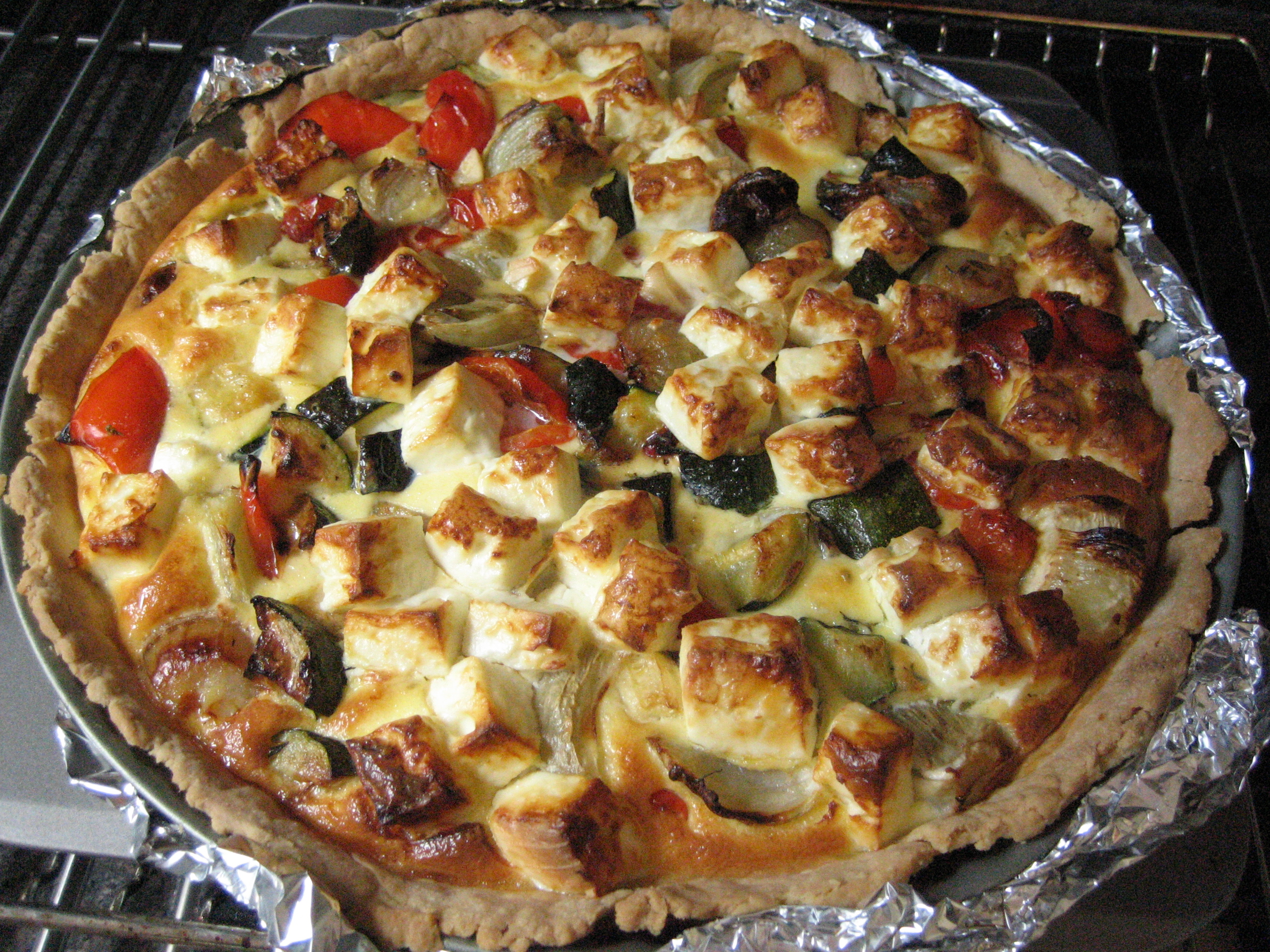 taste: feta and roasted vegetable tart | life savour